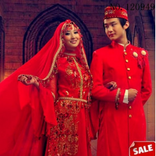 Custom Muslim Wedding dress for men and women