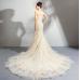 Angel Married Mermaid Princess Romantic Fairy Tale Rose Fishtail Bride's Wedding Dress
