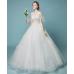 A-line  V collar princess dream wedding dress