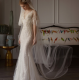 Simple fishtail Princess slim wedding dress